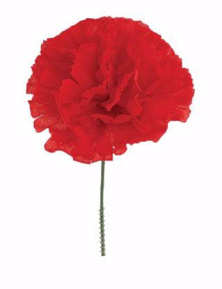 """Picture of Red Carnation Pick (7"""")"""