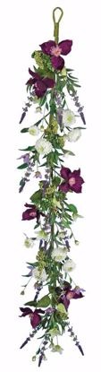 "Picture of Purple Clematis/Mum/Lavender Garland (48"")"
