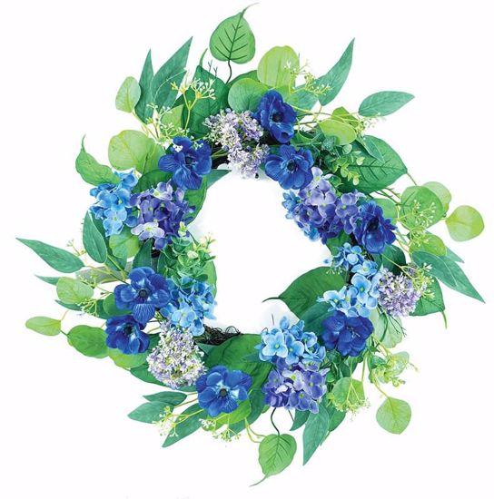 "Picture of 22"" Hydrangea Cosmos Lvs Wreath"