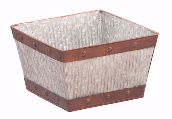 """Picture of Rustic Metal Planter 8"""""""