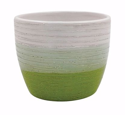 """Picture of Tricolor Brushed Ceramic Planter 4.5"""""""