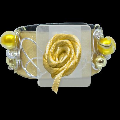 Picture of Angelyn Slap Bracelet-Gold