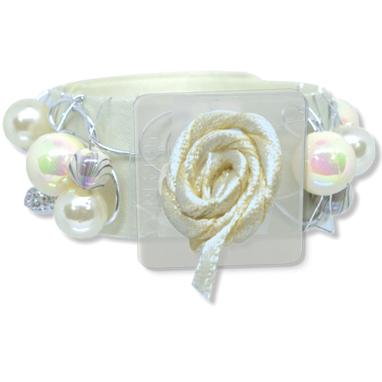 Picture of Angelyn Slap Bracelet Ivory