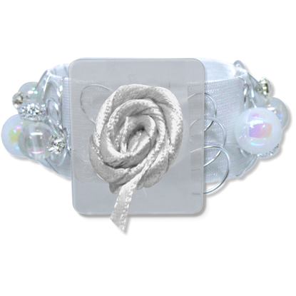 Picture of Angelyn Slap Bracelet White