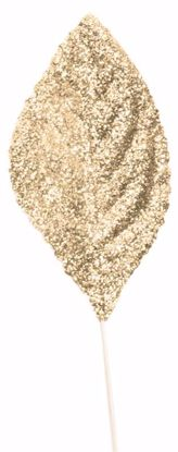 """Picture of 2.25""""  Glitter Corsage Leaves-Rose Gold"""