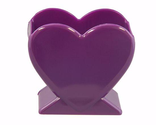 "Picture of Diamond Line 4.5"" Heart Vase - Purple"