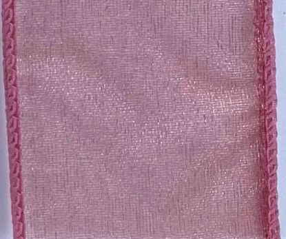 Picture of #9 Deluxe Sheer Wired Ribbon- Dark Mauve