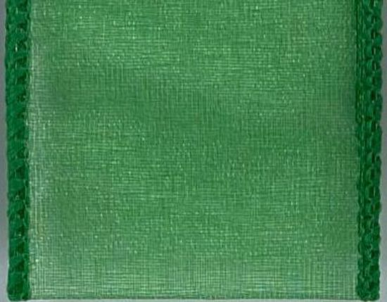 Picture of #9 Deluxe Sheer Wired Ribbon-Emerald