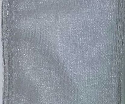 Picture of #9 Deluxe Sheer Wired Ribbon-Silver