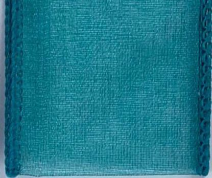 Picture of #9 Deluxe Sheer Wired Ribbon-Teal