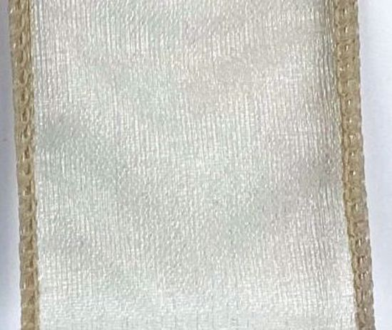 Picture of #9 Deluxe Sheer Wired Ribbon- Toffee