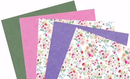 Picture of Floral Waxed Tissue 5 Assorted