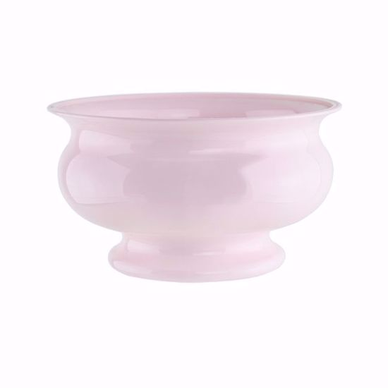 """Picture of Syndicate Sales Pedestal Bowl 5"""" in Seaside Pink"""
