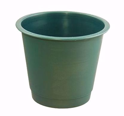 "Picture of Diamond Line 8"" Floral Bucket - Green"