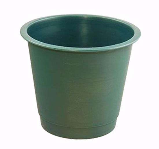 """Picture of Diamond Line 8"""" Floral Bucket - Green"""