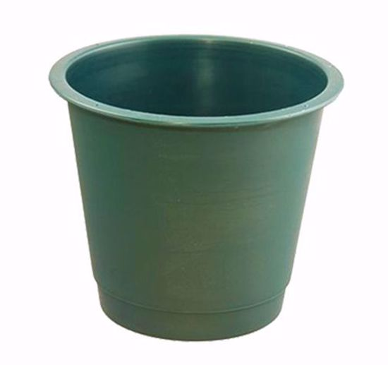 """Picture of Diamond Line 9"""" Floral Bucket - Green"""