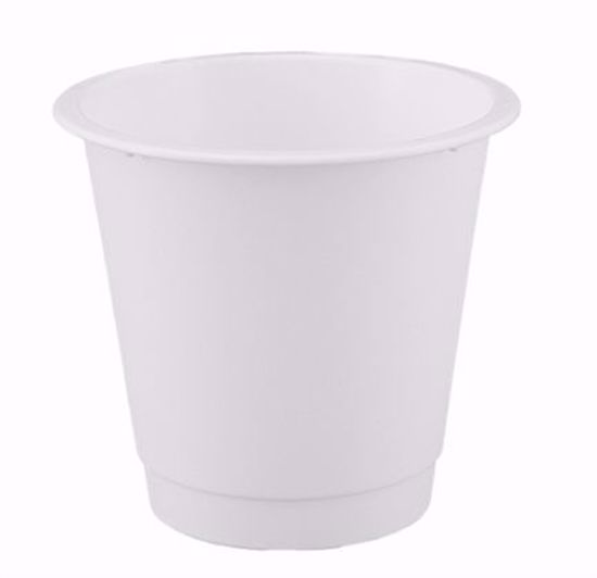 """Picture of Diamond Line 8"""" Floral Bucket - White"""