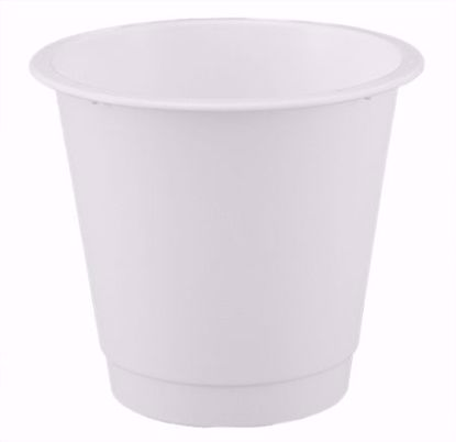"Picture of Diamond Line 7"" Floral Bucket - White"