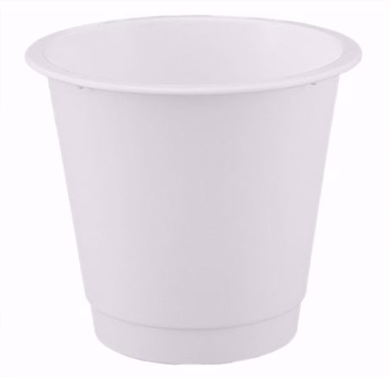 """Picture of Diamond Line 7"""" Floral Bucket - White"""