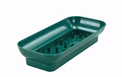Picture of Diamond Line Oblong Design Tray - Green