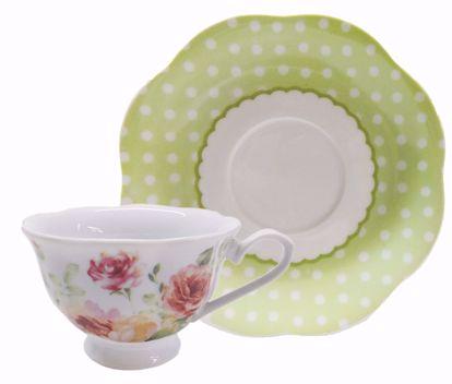 Picture of Floral Porcelain Teacup & Saucer
