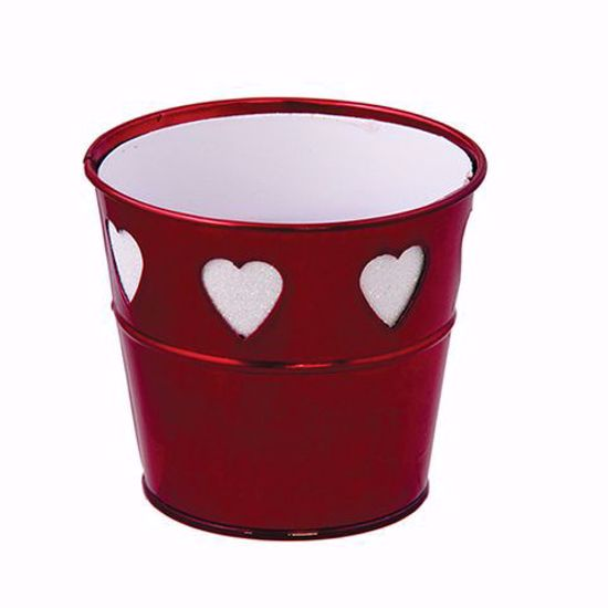"""Picture of Red Metal Pot Cover 4.25"""""""