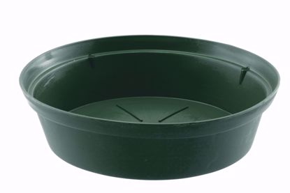 "Picture of Diamond Line 14"" Saucer - Green"
