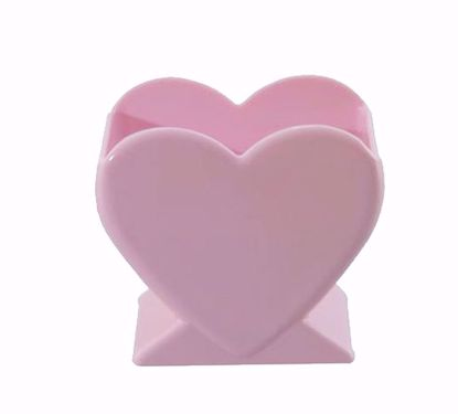 """Picture of Diamond Line 4.5"""" Heart Vase - Pink"""