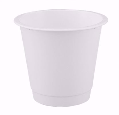"Picture of Diamond Line 9"" Floral Bucket - White"