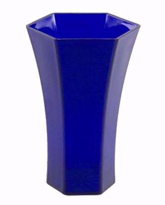 "Picture of Diamond Line 10"" Rose Vase - Cobalt"