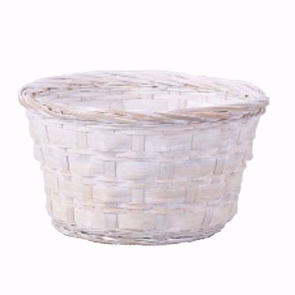 """Picture of 6"""" Whitewashed Bamboo Low Bowl"""