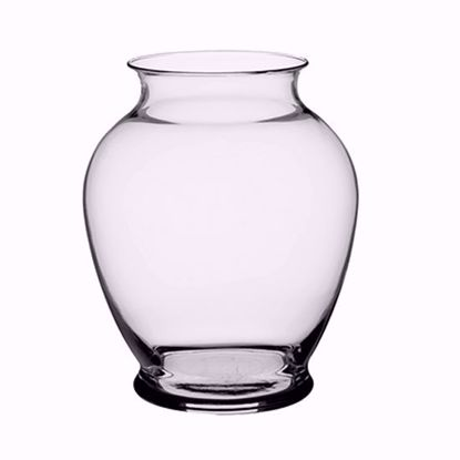 """Picture of Syndicate Sales 7.25"""" Glass Ginger Vase - Clear"""