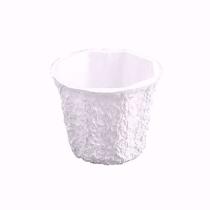"Picture of 4"" Paper Mache Jardiniere - White"