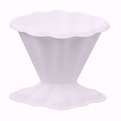 "Picture of Diamond Line 8"" Classic Vase - White"