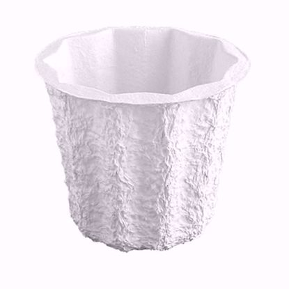 "Picture of 5.5"" Paper Mache Jardiniere - White"