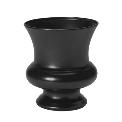 "Picture of Diamond Line 7.75"" Designer Urn - Black"