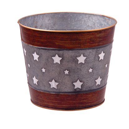 """Picture of Metal Pot Cover with Stars 4.75"""""""