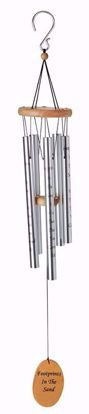 """Picture of Footprints 40"""" Silver Wind Chime"""