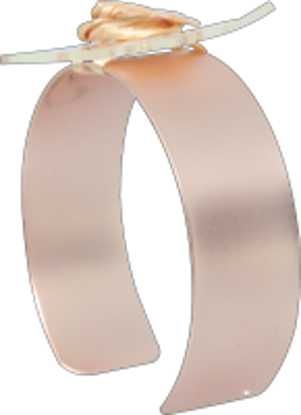 Picture of Riley Flower Cuff Rose Gold Matte