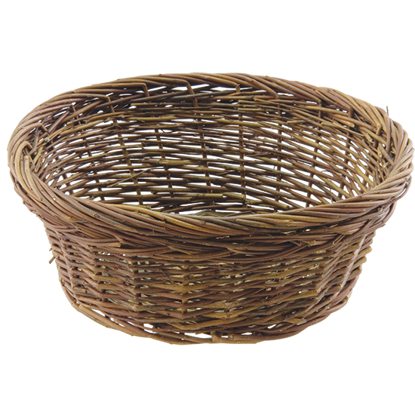 """Picture of 10"""" Rustic Willow Basket with Double Rim Bowl"""