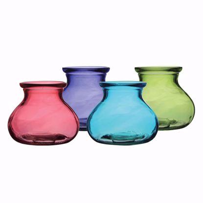 "Picture of Syndicate Sales 5"" Rosie Posie Glass Vase - Vintage"