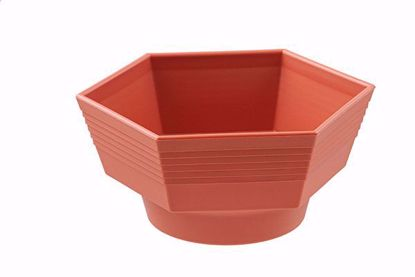"Picture of Diamond Line 6"" Hexagon Planter - Clay"