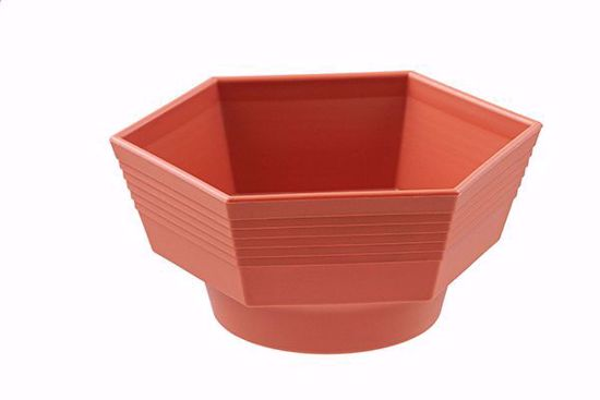 "Picture of Diamond Line 6"" Hexagon Planter - Clay"