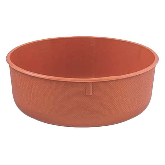 """Picture of Diamond Line 6.5"""" Shallow Design Bowl - Clay"""