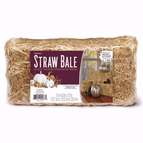 """Picture of Straw Bail - Natural 5"""" X 6"""" X 13"""""""