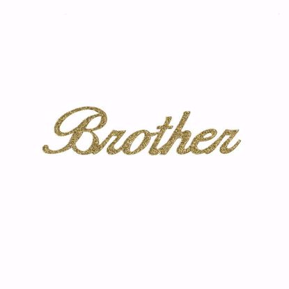 """Picture of 1.5"""" Glitter Gold Script-Brother"""