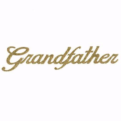 "Picture of 1.5"" Glitter Gold Script-Grandfather"