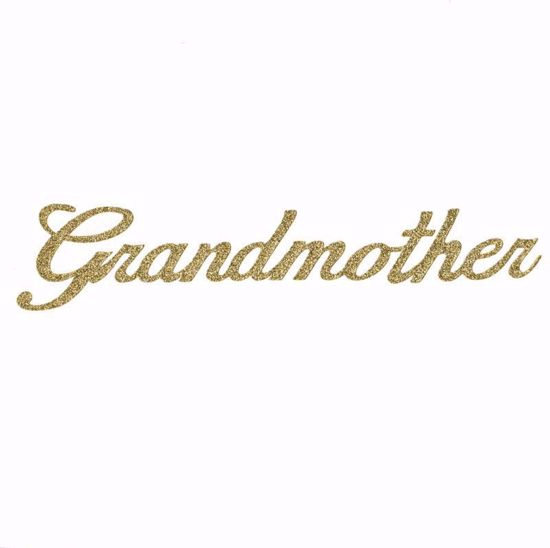 """Picture of 1.5"""" Glitter Gold Script-Grandmother"""