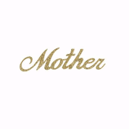 """Picture of 1.5"""" Glitter Gold Script-Mother"""