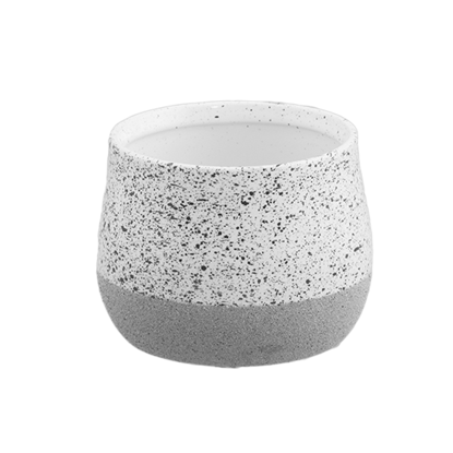 """Picture of Gray Speckle Two-Tone Planter 4"""""""
